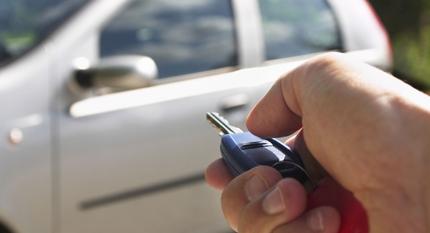Car key unlocking